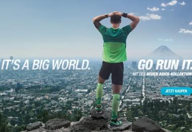 IT´S A BIG WORLD. GO RUN IT. TV-Spot F/S 15